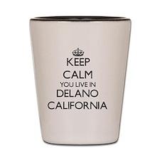 Keep calm you live in Delano California Shot Glass