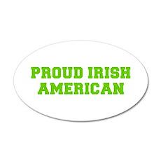Proud Irish American-Fre l green Wall Decal