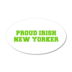 Proud Irish New Yorker-Fre l green 400 Wall Decal