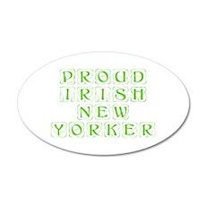 Proud Irish New Yorker-Kon l green 450 Wall Decal