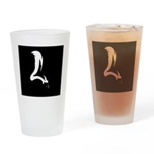 skunk silhouette Drinking Glass
