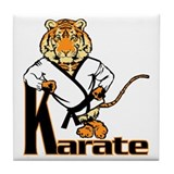 Karate Tiger Kid Tile Coaster