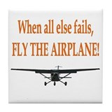 Fly the airplane! Tile Coaster