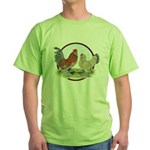 Belgian d'Uccle Bantams Green T-Shirt