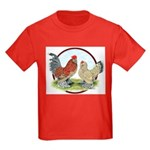 Belgian d'Uccle Bantams Kids Dark T-Shirt