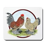 Belgian d'Uccle Bantams Mousepad
