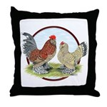 Belgian d'Uccle Bantams Throw Pillow