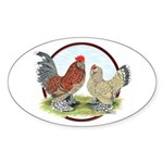 Belgian d'Uccle Bantams Oval Sticker