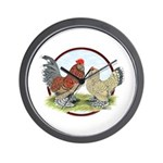 Belgian d'Uccle Bantams Wall Clock