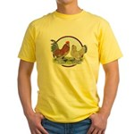 Belgian d'Uccle Bantams Yellow T-Shirt