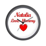 Natalia Loves Mommy Wall Clock