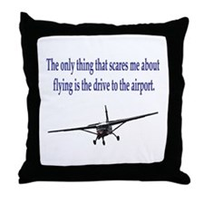Drive to airport Throw Pillow
