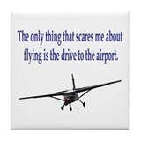 Drive to airport Tile Coaster