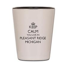 Keep calm you live in Pleasant Ridge Mi Shot Glass