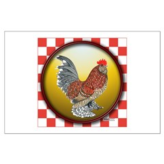 Checkerboard D'Uccle Rooster Posters