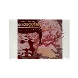Tree Buddha Rectangle Magnet