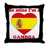 Gamboa, Valentine's Day Throw Pillow