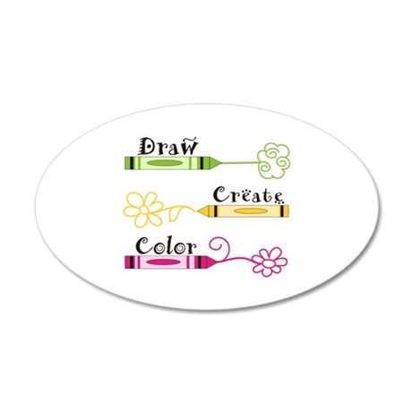 DRAW CREATE COLOR Wall Decal