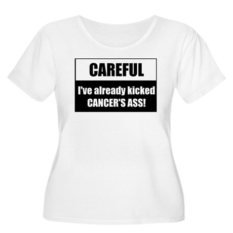 Kicked Cancer's Ass Women's Plus Size Scoop Neck T
