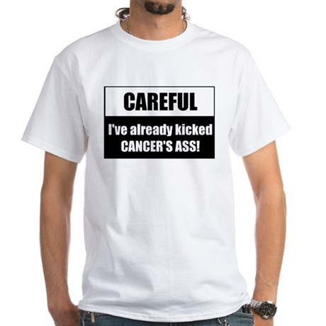 Kicked Cancer's Ass White T-Shirt