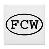 FCW Oval Tile Coaster