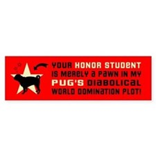 Pug World Domination -Dog Bumper Bumper Sticker