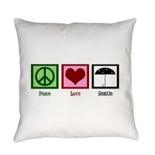 Peace Love Seattle Everyday Pillow