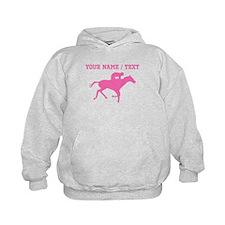 Pink Horse Racing Silhouette (Custom) Hoodie