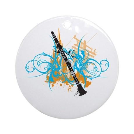 Urban Clarinet Ornament (Round)