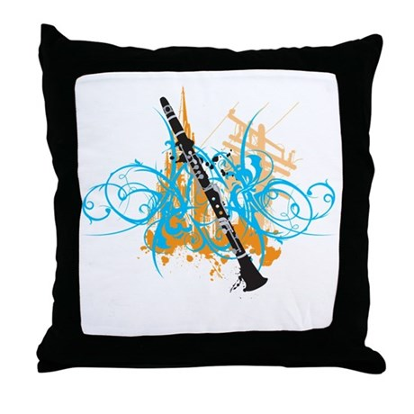 Urban Clarinet Throw Pillow
