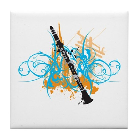 Urban Clarinet Tile Coaster