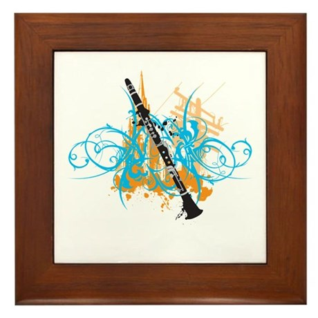 Urban Clarinet Framed Tile