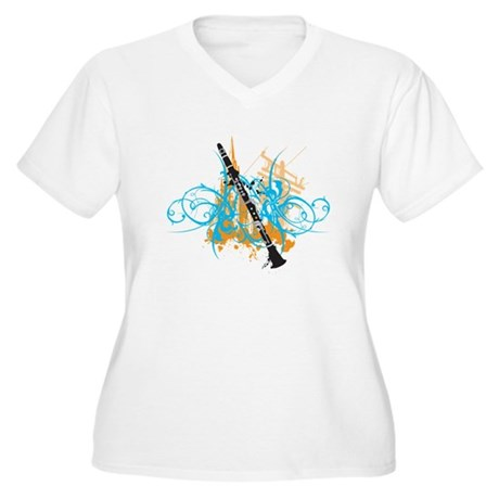 Urban Clarinet Women's Plus Size V-Neck T-Shirt