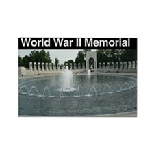 World War II Memorial Rectangle Magnet (100 pack)