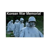 Korean War Memorial Rectangle Magnet (100 pack)