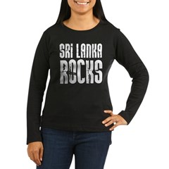 Sri Lanka Rocks Women's Long Sleeve Dark T-Shirt
