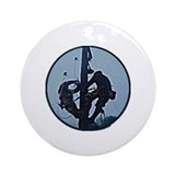 Lineman Ornament (Round)