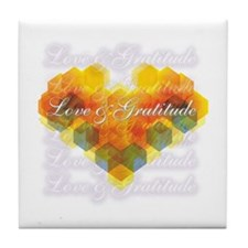 Love & Gratitude Tile Coaster