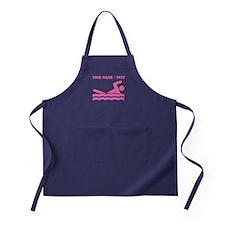 Pink Swimmer (Custom) Apron (dark)