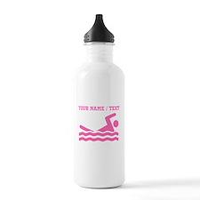 Pink Swimmer (Custom) Water Bottle