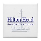Hilton Head Sailboat - Tile Coaster