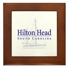 Hilton Head Sailboat - Framed Tile
