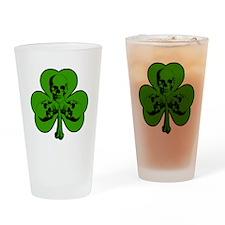 Skully Shamrock Drinking Glass