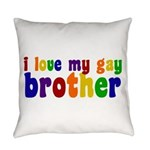 I Love My Gay Brother Everyday Pillow