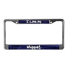 Funky Love Whippet License Plate Frame