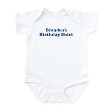 Branden birthday shirt Infant Bodysuit