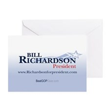 """Bill Richardson 2008"" Greeting Cards (10)"