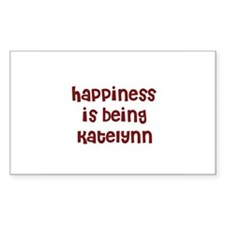 happiness is being Katelynn Rectangle Decal
