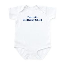 Denzel birthday shirt Infant Bodysuit