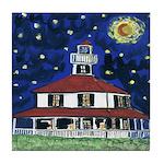 Starry Night Lighthouse Tile Coaster